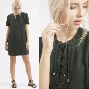 Topshop Lace-Up Tunic Dress
